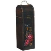 Kufřík na 1 lahev červeného vína rustik dřevěný