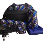 House of Botori Bolu Bowler Bag Braid Sapphire