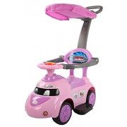 Baybee Tikki-Rikki Push Car with Canopy and Parent Control, Music Sound (Violet)
