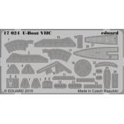Eduard Photoetch 1:350 - U-Boat VIIC (Revell) - EDP17024