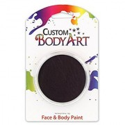 Custom Body Art LARGE 18ml Face Paint Color Single Colors 1-each (Black) - Great for Parties Halloween & Birthdays