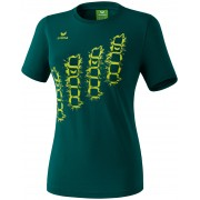 Erima GRAFFIC 5-C T-Shirt sötét zöld/lime poló