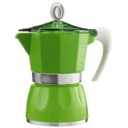 GAT - Cafetière Italienne en Aluminium - Coloranda Verte - 3 Tasses