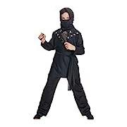 Rubie's Official Ninja Fancy Dress, Children Costume - Black, Large