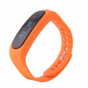 Bratara Fitness Smartband Bluetooth E02 portocaliu