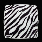 Plafon Sobrepor Quadrado Médio Zebra Preto Attena