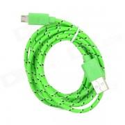 USB 2.0 Data/Charging Woven Mesh Cable for Google Nexus 7 / Nexus 7 II - Green