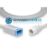 CABO TRONCO DE ECG 3 VIAS COMPATÍVEL PHILIPS/HP® M1669A (NQA-E443) / Registro Anvisa 80787710012 - NQA-E443