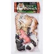6-piece Learning Toy Wild Animals 6-piece Wild Animal Play Set