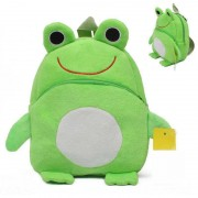 Green Frog Baby Bag Stuffed Soft Plush Toy