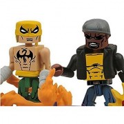 Marvel Minimates Best of Series 3 2 Inch Minifigure 2-Pack Luke Cage Power Man & Dragon Attack Iron Fist