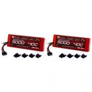 Venom Sport Power 40C 2S 5000mAh 7.4 LiPO Battery ROAR with UNI Plug (2-Pack)