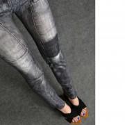 Jeggings Slim En Jean Style Stretch Skinny Leggings Collants Jambières Femmes Mode Crayon Pantalons Longueur De Cheville Casual