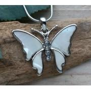 ketting hanger vlinder parelmoer 061