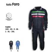 Classics - Tuta Sportiva Passeggio Relax Rappresentanza Uomo Donna Bambino Tuta Foro