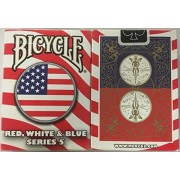 Rojo, blanco y azul serie 5 (diseño del círculo) jugando a las cartas de la bicicleta Bicycle Red, White and Blue Series 5 (Circle Design) Playing Cards