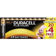 Duracell Baterie alkaiczne Duracell Plus AAA DUR019058, 24 szt.