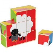 Hape - Farm Animals Wooden Stacking Block Puzzle