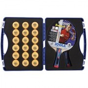 JOOLA Expert Table Tennis Tour Case with Two Rossi Smash Rackets