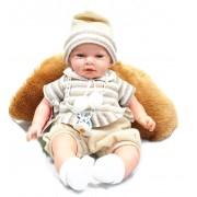 Baby docka som pratar, gråter. Presentkartong med kudde. - med ljust hår