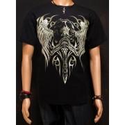Koszulka świecąca w ciemności marki Rock Eagle - CZASZKA ZE SKRZYDŁAMI