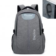 2017 New External USB Charge canvas Bag Men Notebook Backpack Waterproof Women 14 inch Laptop School Backpack Men Unisex Mochila