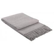 Manta de 20% lana con franja , 130 X 185 cm, modelo Rio gris