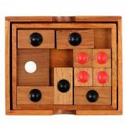 Madera Klotski Sliding Puzzle de juguetes educativos - Madera Color Rojo +