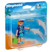 Playmobil Duo Dolphins Pack And Trainer Set