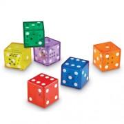 Learning Resources - Jumbo, Dadi da gioco dentro dadi trasparenti
