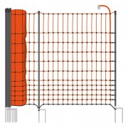 VOSS.farming farmNET+ 50 m Premium chicken fence,poultry fence/ netting, 112 cm, 20 posts, 2 spikes