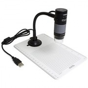 Plugable USB 2.0 Digital Microscope with Flexible Arm Observation Stand for Windows Mac Linux (2MP 250x Magnification)