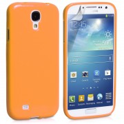 Orange Soft Glossy Gel Case for Samsung Galaxy S4 Phone Protection