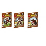Lego, Mixels Series 2 Bundle Set Chomly (41512), Gobba (41513), and Jawg (41514) by LEGO