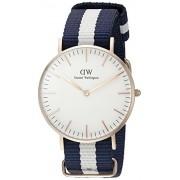 Daniel Wellington 0503DW - Reloj con correa de acero para mujer, color blanco / gris