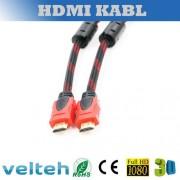 HDMI kabl 13.5m pleteni V1.4 feriti
