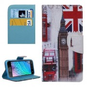 Symbols of Britain Pattern Horizontal Flip Leather Case with Holder & Card Slots & Wallet for Samsung Galaxy J2 / J200
