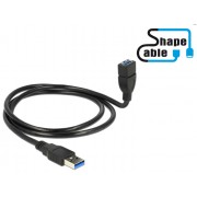 DeLock Cable USB 3.0 A male > USB 3.0 A female ShapeCable 1m 83716