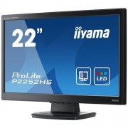 Monitor iiyama ProLite P2252HS-B1, 22'', LCD, 1920x1080, 5M:1, 5ms, 225cd, D-SUB, DVI-D, HDMI, tvrdené sklo
