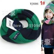 Zöld-kék csíkos gyerek körsál