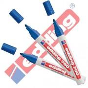 Edding 750 - Rotulador (& Creative brillo Marcador 3 Paquete ahorro, 10 colores & surtidos para elegir., color azul