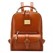 Tinksky? Vintage Shoulders Bag Fashion Student Backpack School Bag (Brown)