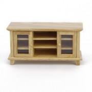 Tinksky 1:12 Doll House Miniature Living Room Furniture Wooden TV Cabinet Make Up Dollhouse Furniture Accessories for Kids Children Play Toy Gift