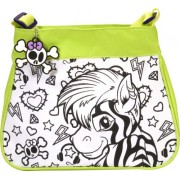 Wild Republic Diy Purse Zebra/Lion, Green (11.5 X 12-inch)