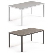 Mesa de diseño exterior BOGEN 160x90 aluminio, porcelanico