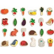 Jucarie copii Janod Fridge Magnets - Garden