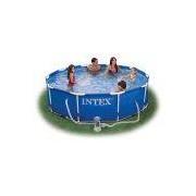 INTEX Swimming Pool Metal Frame 366x76cm + Pumpe 28212 GS