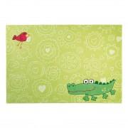Tapijt Sigikid Crocodile Happy Zoo Big Size groen - 120x180cm, Sigikid