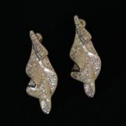 Semi Earring Jewelry Gold Plated Leaf