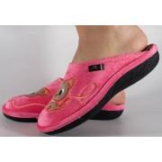 Papuci de casa roz din plus dama/dame/femei (cod ERI)